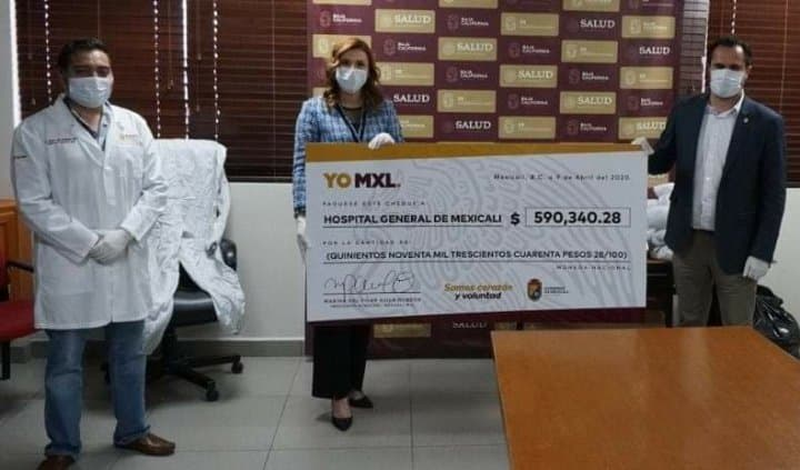 IMPORTANTE DONATIVO AL HOSPITAL GENERAL DE MEXICALI