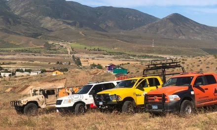 OPERATIVO PARA SOFOCAR INCENDIO FORESTAL EN TECATE