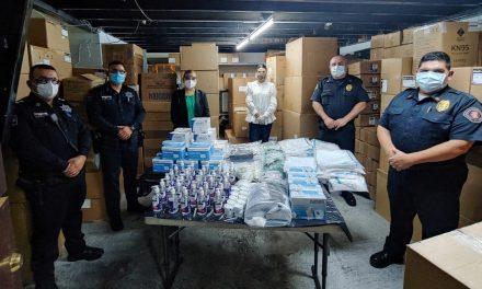 ENTREGAN INSUMOS DE PROTECCIÓN A POLICÍAS Y BOMBEROS DE MEXICALI