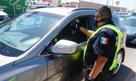 RETORNAN A 175 AUTOMOVILISTAS POR INCUMPLIR REGLAS DE SEGURIDAD