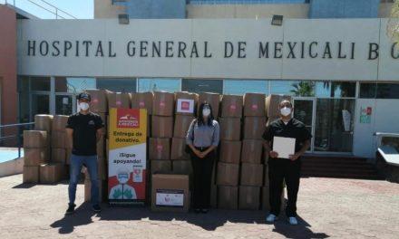 DONATIVO EN INSUMOS MÉDICOS PARA HOSPITAL GENERAL DE MEXICALI