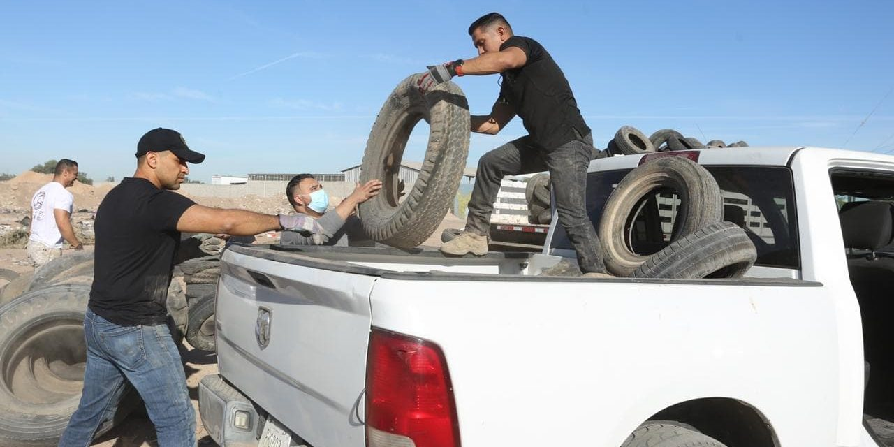 EMPIEZA LA RECOLECCIÓN DE LLANTAS EN EL SISTEMA LAGUNAR DE MEXICALI