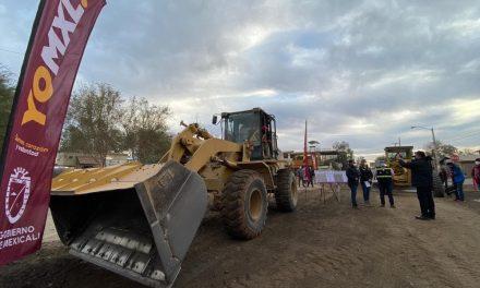 TRABAJOS DE PAVIMENTACIÓN EN AVENIDA OAXACA EN MEXICALI