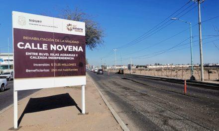 INICIAN REHABILITACIÓN DE CALLE NOVENA EN MEXICALI