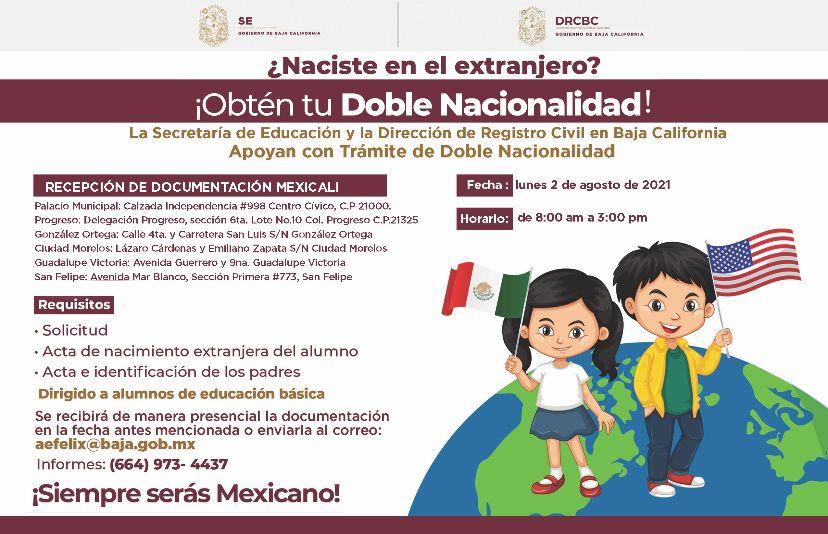TRÁMITE DE DOBLE NACIONALIDAD PARA ESTUDIANTES DE EDUCACIÓN BÁSICA